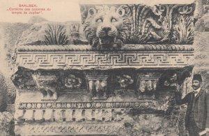 BAALBEK , Lebanon , 00-10s ; Corniche des colonnes du temple de Jupiter