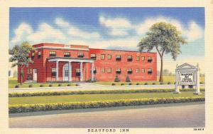 Carlisle Pennsylvania~Beauford Inn~Route 11~1948 Linen Postcard