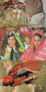 Tunusie Yawning Crafts Dont Cough Yawn Fashion 3x Tunisia Arabic Postcard s
