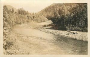 Dahridge Oregon 1940s Wrinkles Willamette River RPPC Photo Postcard 12525