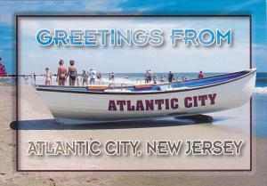 Greetings From Atlantic City New Jersey Lifeguard Boat