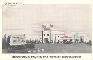 Somerville New Jersey Stockholm Smorgasbord Street View Antique Postcard K107932