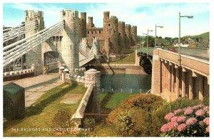 Conway Château & Pont Galles Carte