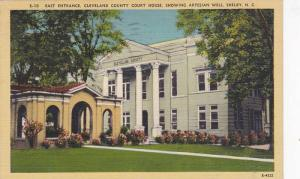 East Entrance, Cleveland County Court House, Showing Artesian Well, Shelby, N...