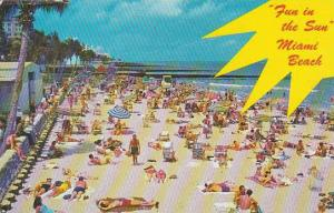 Florida Miami Beach Beautiful Public Beach at 21st Street 1965