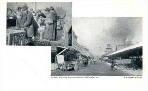 17530  NY   Buffalo Morning Express /   Food Vendors / Elk Street market