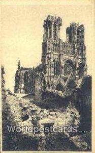 La Cathedrale de Reims Reims, France, Carte, Unused