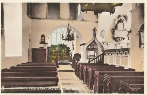 MELTON CONSTABLE , Norfolk , England , 1940s ; Church Interior ; TUCK