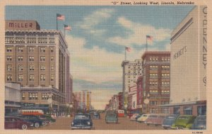 LINCOLN, Nebraska, PU-1962; O Street, Looking West