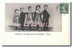 Phenomena Old Postcard Remembrance kingdom of Lilliput Paris (dwarf)