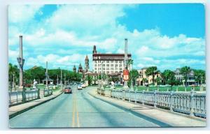 *1960s Skyline St. Augustine Florida From Bridge of Lions Vintage Postcard C19