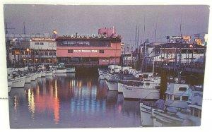 Fishermans Wharf Alitos Boats San Francisco California Vintage Postcard