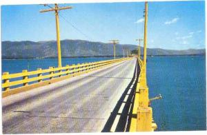 Wooden Bridge U.S. Highway 95 over Lake Pend Oreille, Sandpoint Idaho ID Chrome