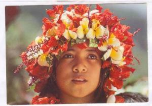Fillette polynesienne , Tahiti, 60-80s