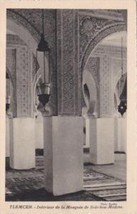 Algeria Tlemcen Interieure de la Mosquee de Sidi-bou-Medine