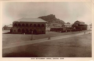 Yemen Aden Settlement Office ,Crater real photo postcard