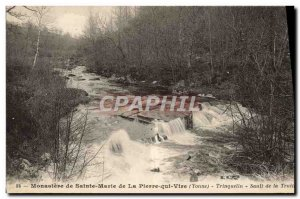 Old Postcard Monastery of St. Mary of Peter Vire Trinquelin Falls Trout