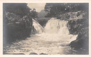 Ambleside Cumbria~Skelwith Force Waterfall~Lady in Rocks~1915 Real Photo~RPPC
