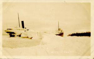 MI - Lake Superior, Keweenaw Point. Shipwreck of the Altadoc on Decembe...