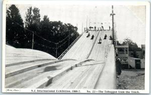 1906-07 New Zealand INTERNATIONAL EXHIBITION Postcard Toboggan from the Track