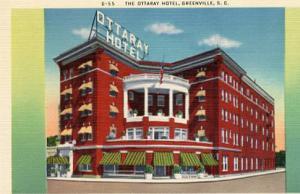 SC - Greenville, The Ottaray Hotel (Torn Down in 1962)