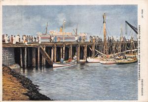 Sierra Leone Le Pier Vintage Postcard