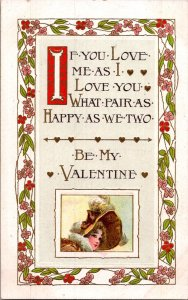Charles Rennie Mackintosh style art nouveau Valentine flowers