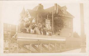 RP; Parade, WINNIPEG, Manitoba, Canada, 1931; Military Officials saluting fro...