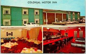 Walnut, Iowa Postcard COLONIAL MOTOR INN Interstate 80 Roadside c1960s Unused