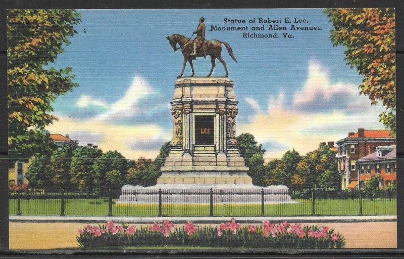 Virginia, Richmond - Statue Of Robert E Lee - [VA-285]