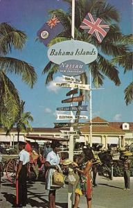 Bahamas Nassau Signpost In Rawson Square
