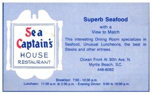 South Carolina  Myrtle Beach , Sea Captain's House restaurant