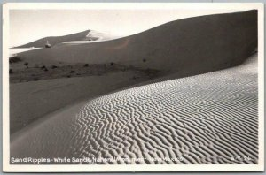 1940s New Mexico RPPC Photo Postcard Sand Ripples White Sands National Monument