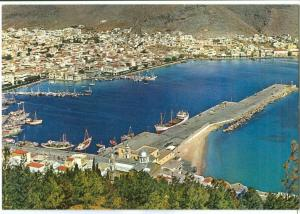 Greece, Kalymnos, General view of the Harbor, unused Postcard