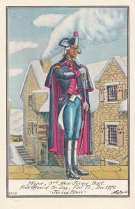 American Revolutionary War 1776 New Jersey Regiment Soldier Postcard