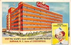 Tobacco Factory Chesterfield Factory Durham, NC, USA 1955