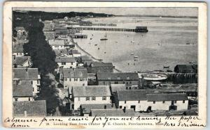 Provincetown, Massachusetts Postcard Looking East from Center M.E. Church 1904
