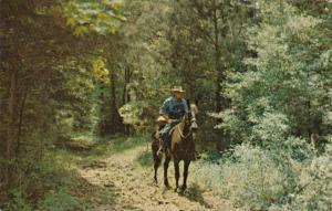 Tennessee Nashville Horseback Rider On Natchez Trace Parkway Connecting Natch...
