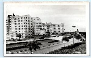 Hospital Das Clinicas Sao Paulo Brazil Brasil Clinics Vintage Photo Postcard C48
