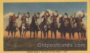 Oklahoma Rangers Western Cowboy, Cowgirl Postcard Postcards  Oklahoma Rangers