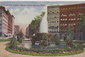Michigan Detroit Fountain Capitol Square Park