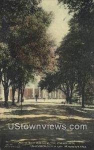 University of Missouri Columbia MO 1921