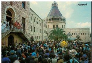 Postcard - The Church of Annunciation On Palm Sunday - Nazareth Israel
