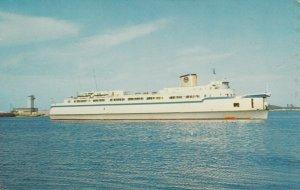 NORFOLK, Virginia, 50-60s; Elongated Automobile-Passenger Ferry Princess Anne