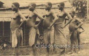 Congo Belge African Nude Unused