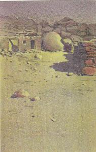 New Mexico Typical Pueblo Scene