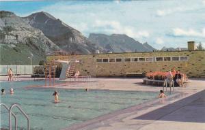 Waterton Lakes swimming pool and Waterton Valley, Alberta, Canada, 40-60s