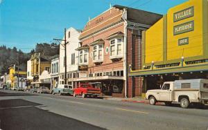 Ferndale California birds eye view business district vintage pc Y13785