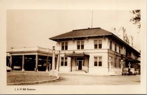 Pensacola Florida~Louisville & Nashville Railroad Train Depot~1930s Cars~RPPC