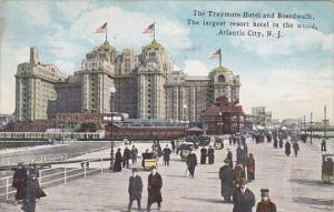 The Traymore Hotel And Boardwalk The Largest Resort Hotel In The World Atlant...